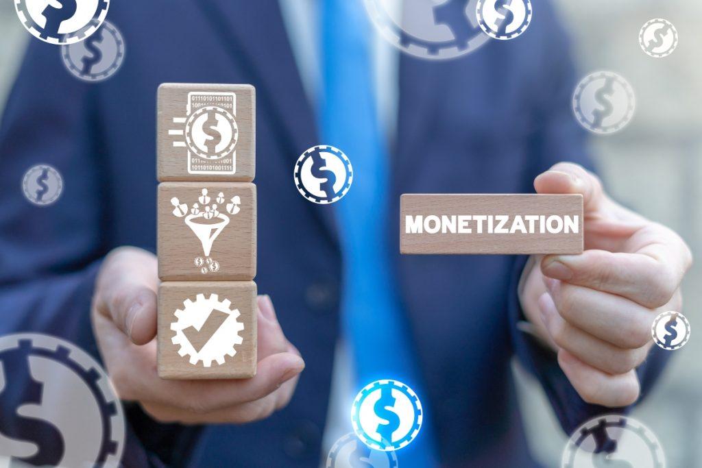 Affiliate program monetization.